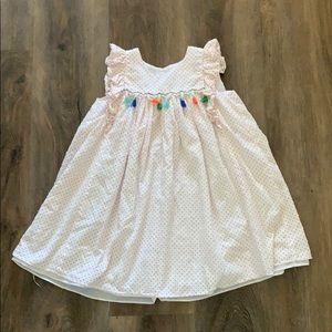 Super cute comfy polka dot dress with tassels